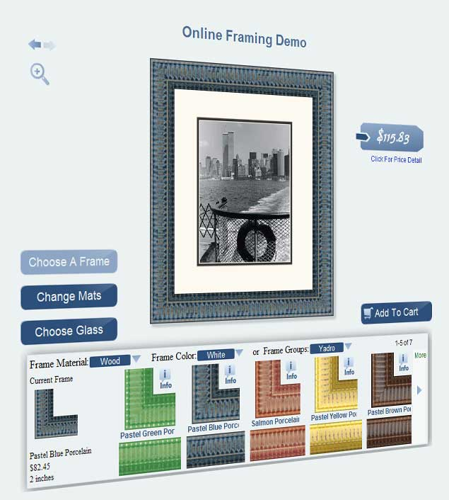easy to use custom framing application