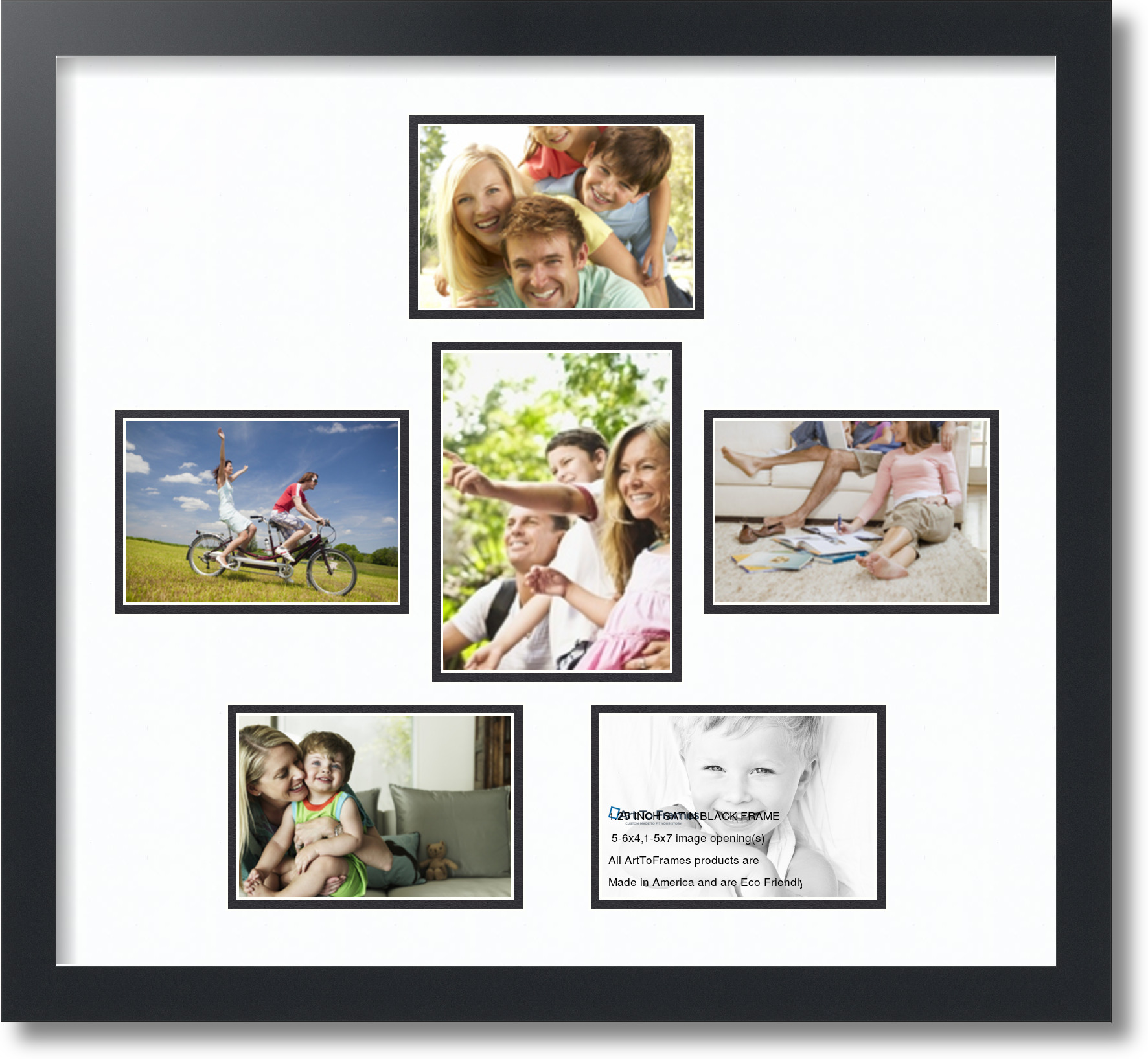 arttoframes collage frame with 6 openings 5x7 6x4 ebay. Black Bedroom Furniture Sets. Home Design Ideas
