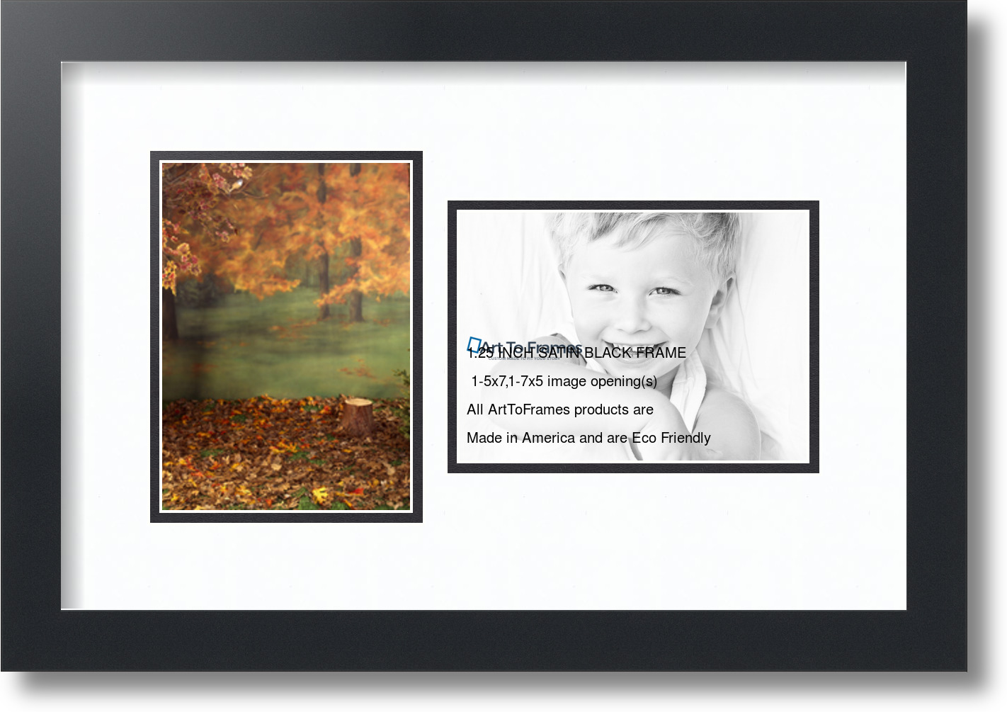 Arttoframes Collage Frame With 2 Openings 5x7 Amp 7x5 Ebay