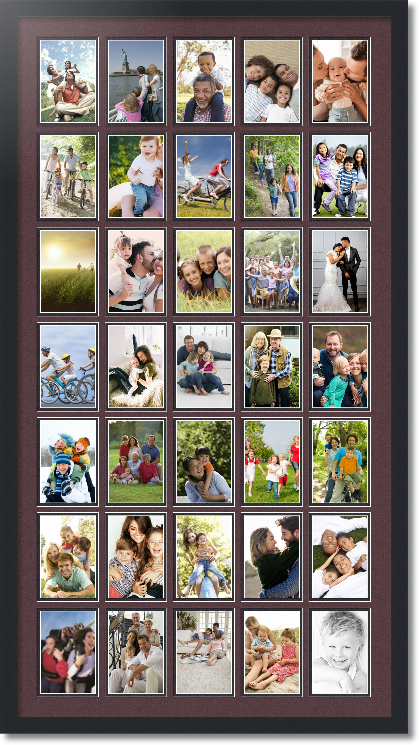 Satin Black Collage Picture Frame With 35 4x6 Opening S