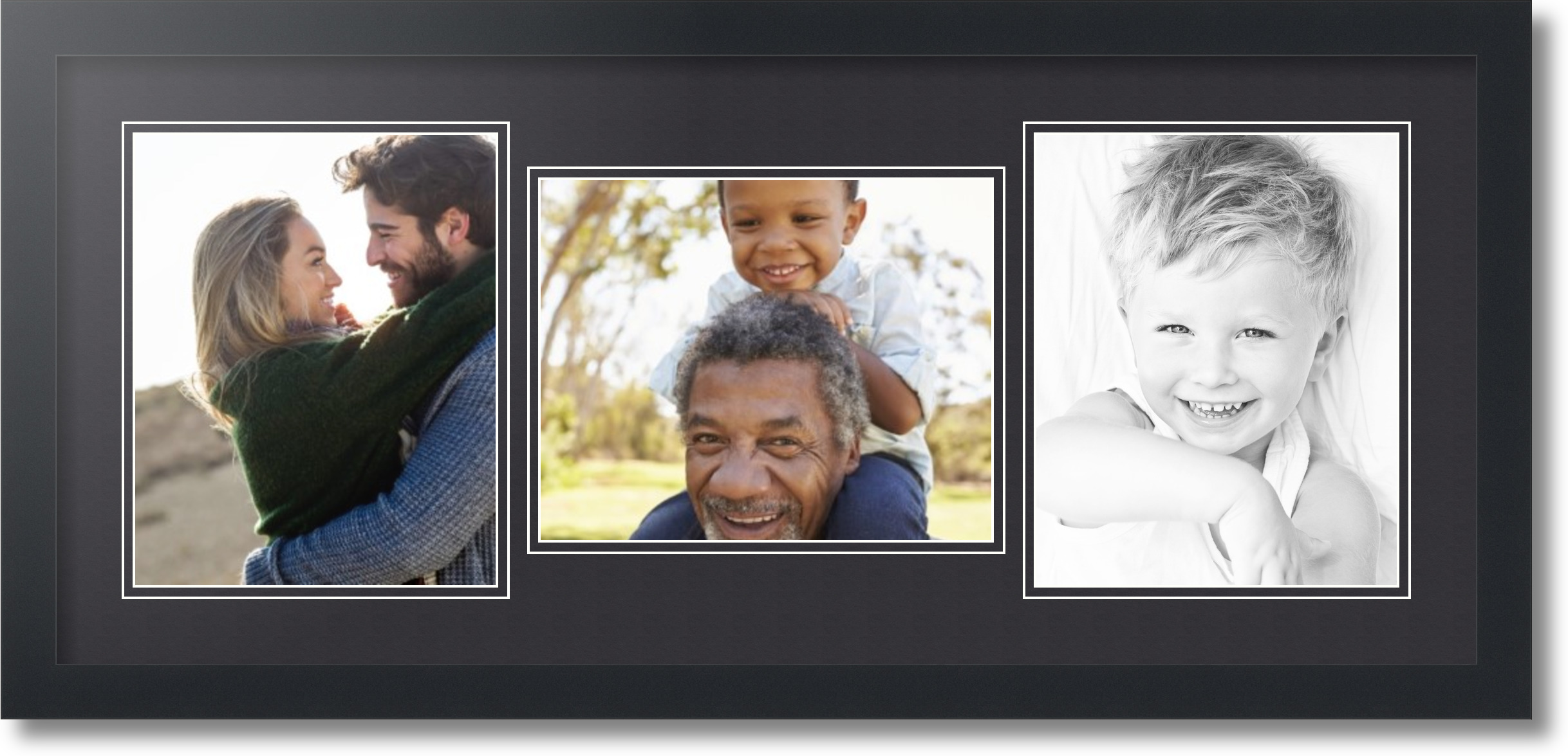 Satin Black Collage Picture Frame With 3