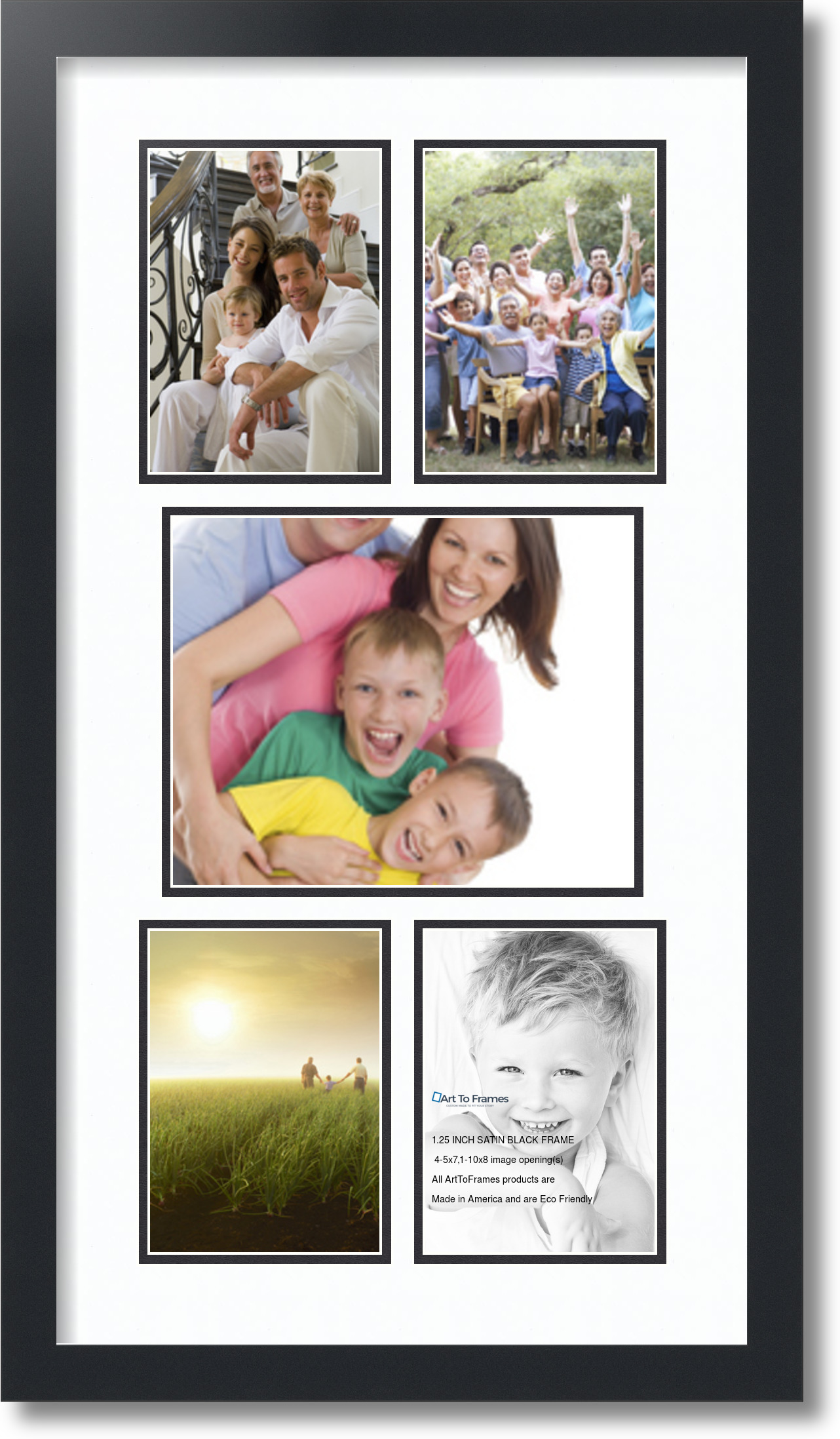 Arttoframes Collage Frame With 5 Openings 5x7 Amp 10x8 Ebay