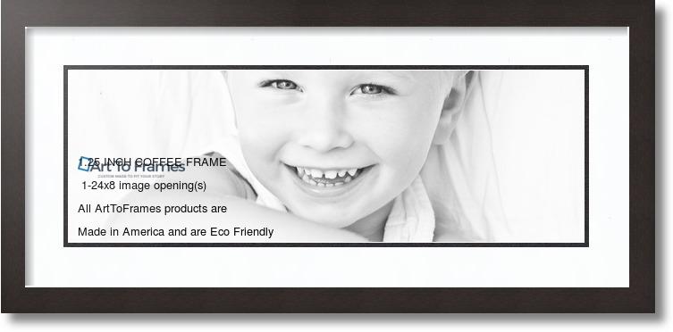 28x12 Espresso Collage Picture Frame 1 Opening Super White