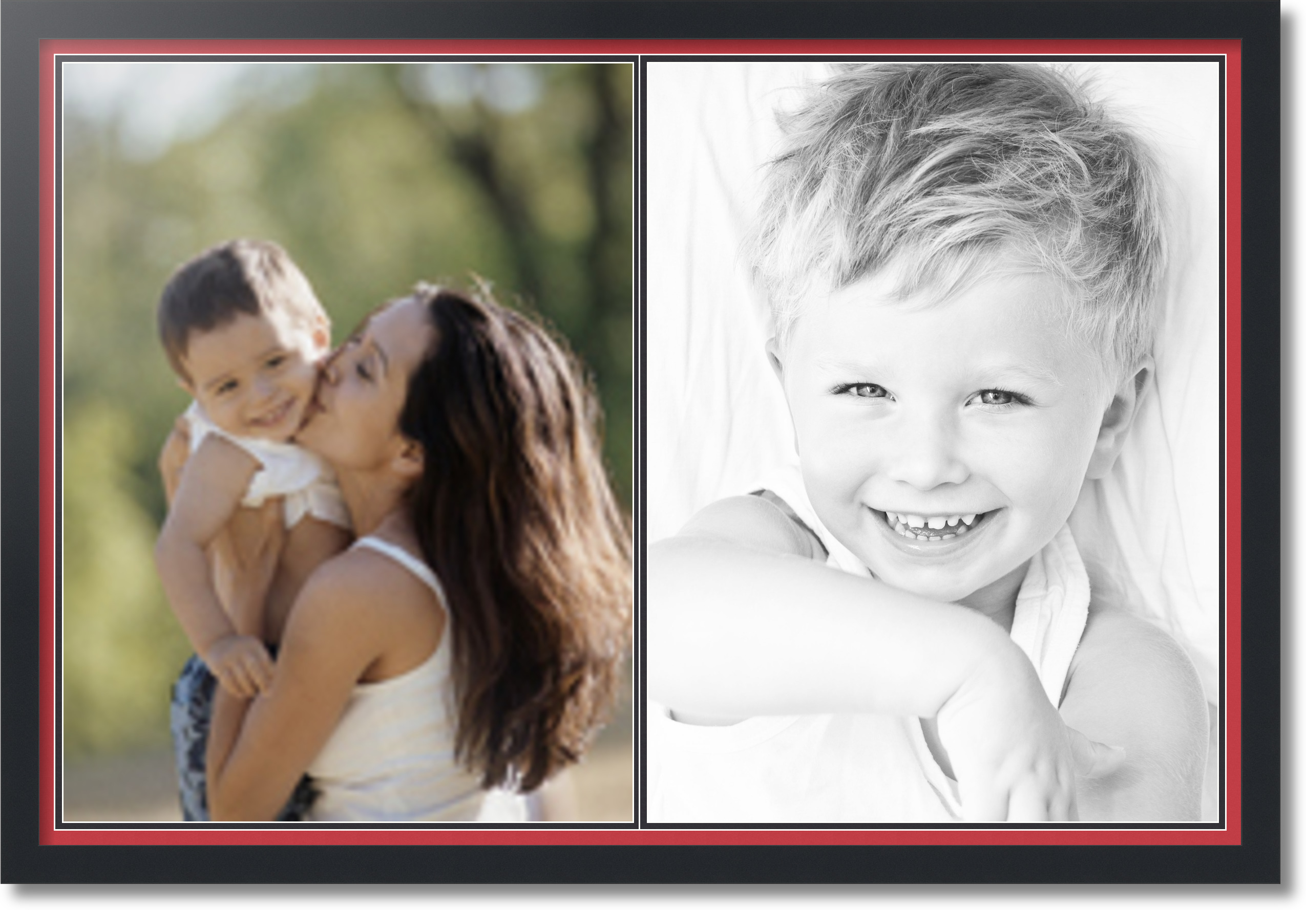 Satin Black Collage Picture Frame With 2 18x24 Opening S
