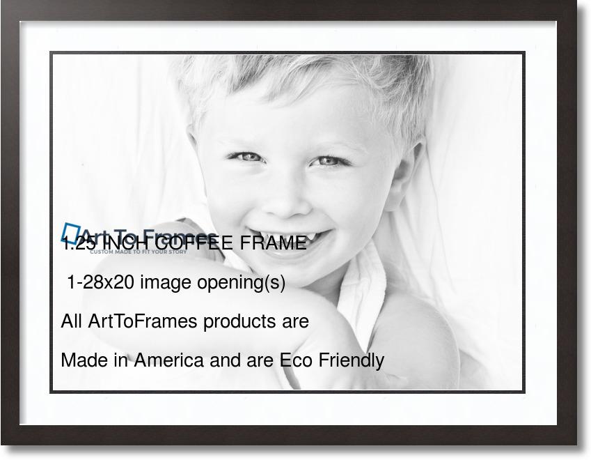 32x24 Espresso Collage Picture Frame 1 Opening Super White