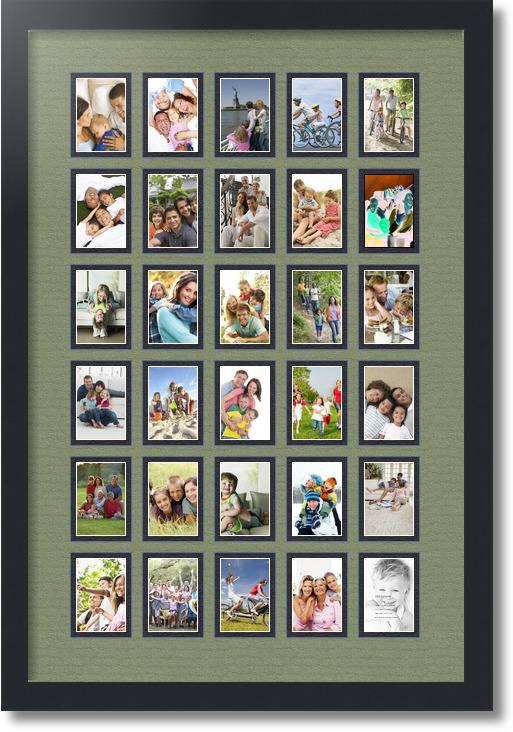 Collage Frame With 30 Openings Overall Size 20 Quot X 32