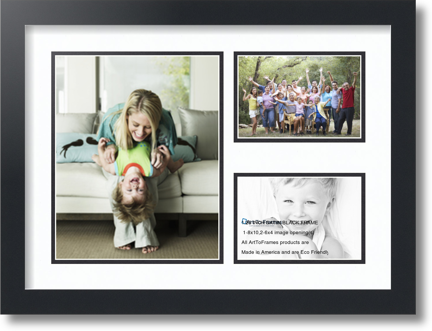 Arttoframes Collage Frame With 3 Openings 8x10 Amp 6x4 Ebay