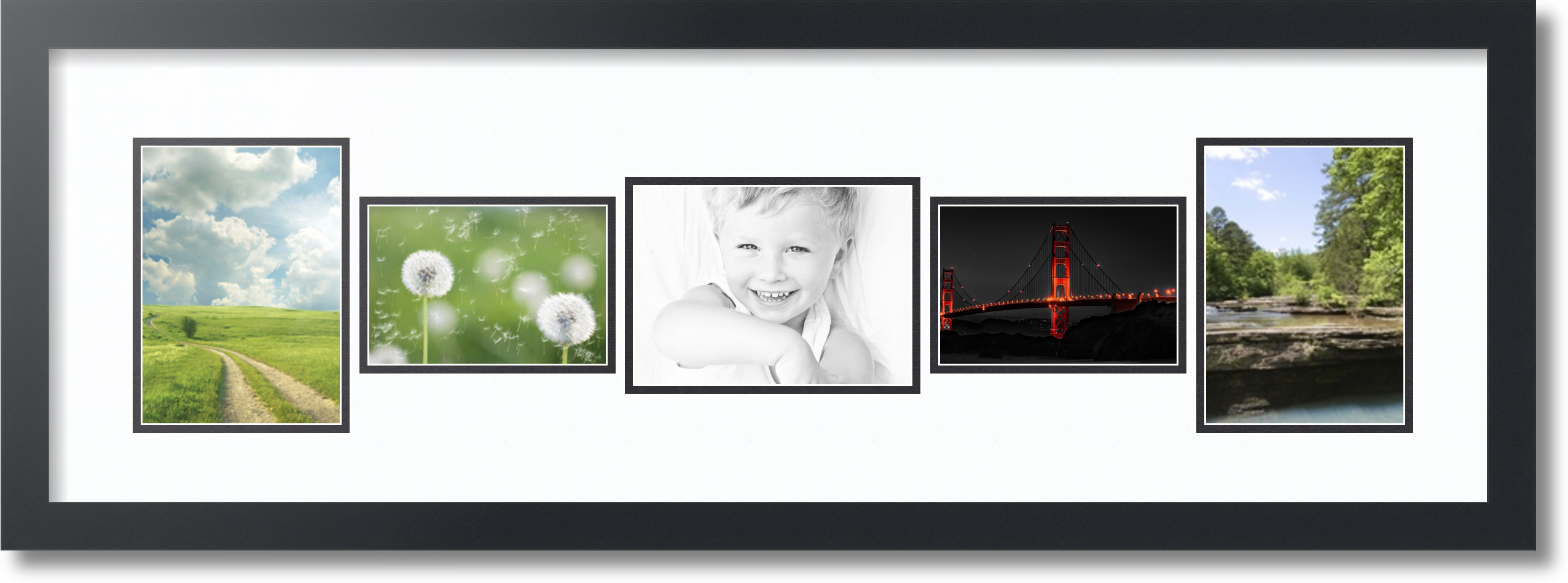 arttoframes collage frame with 5 openings 5x7 6x4 7x5 ebay. Black Bedroom Furniture Sets. Home Design Ideas